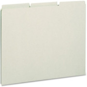 Smead 50334 Gray/Green Pressboard Guides with Blank Tab