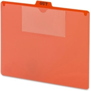 Smead 51920 Bright Red Poly Out Guide, Two-Pocket Style