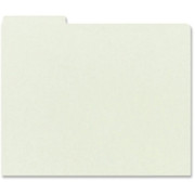 Smead 52334 Gray/Green Pressboard Guides with Blank Tab