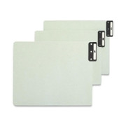 Smead 61676 Gray/Green 100% Recycled Extra Wide End Tab Pressboard Guides with Vertical Metal Tab