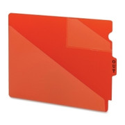Smead 61960 Red End Tab Poly Out Guides - Two-Pocket Style