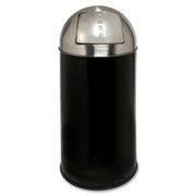 Genuine Joe Classic Round Top Receptacle - 1