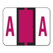 Smead 67071 Red BCCR Bar-Style Color-Coded Alphabetic Label - A