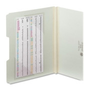 Smead 68140 Clear Self-Adhesive Poly Corner Pockets