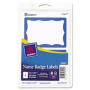 Avery Self-Adhesive Name Badge Label