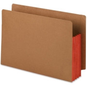 Smead 74686 Red Extra Wide End Tab File Pockets with Reinforced Tab and Colored Gusset