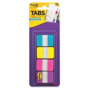 "Post-it 1"" Solid Color Self-stick Tabs - 1"