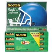 Scotch Magic Tape Helmet Dispenser Pack