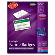 Avery Laser/Inkjet Pin Style Name Badge Kit - 1