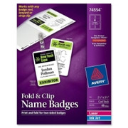 Avery Fold & Clip Name Badge - 1