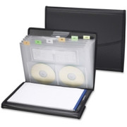 Smead 85830 Black Poly Pro Series II Pad Folio with Expanding File