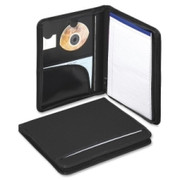 Smead 85840 Black Poly Nylon Covered Zippered Pad Folios