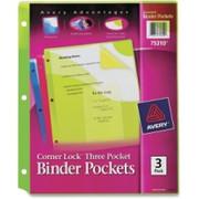 Avery Corner Lock Three Pocket Binder Pockets