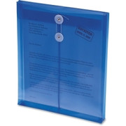 Smead 89542 Blue Poly Envelopes with String-Tie Closure
