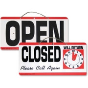 Advantus Open/Closed Sign With Clock