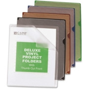 C-line Deluxe Colored Back Vinyl Folders