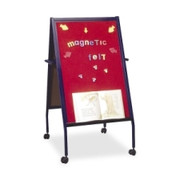 Balt Magnetic Red Flannel Surface Easel Double-Sided