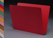 End Tab Colored File Folder - Red - 3