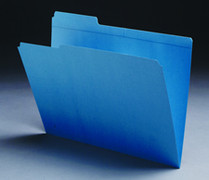 Top Tab Colored File Folder - Blue - 1