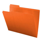 Top Tab Colored File Folder - Orange - 2