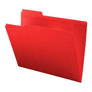 Top Tab Colored File Folder - Red - 2