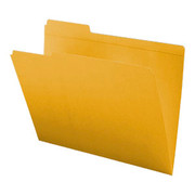 Top Tab Colored File Folder - Yellow - 2