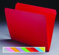 Top Tab Colored File Folder - Pink - 3