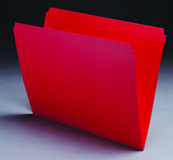 Top Tab Colored File Folder - Red - 3