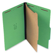 Top Tab Pressboard Classification Folder - Emerald Green