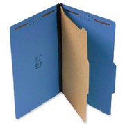 Top Tab Pressboard Classification Folder - Cobalt Blue
