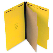 Top Tab Pressboard Classification Folder - Yellow