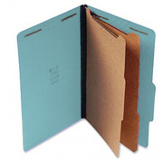 Top Tab Pressboard Classification Folder - Blue