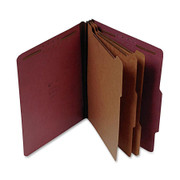 Top Tab Pressboard Classification Folder - Red - 2
