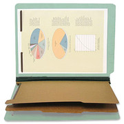 End Tab Pressboard Classification Folder - Pale Green