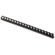 """Fellowes Plastic Combs - Round Back, 3/8"""", 55 sheets, Black, 100 pk"""