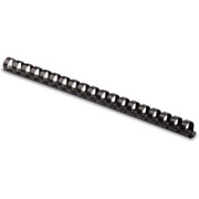 """Fellowes Plastic Combs - Round Back, 1/2"""", 90 sheets, Black, 100 pk"""