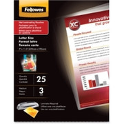 Fellowes Glossy Pouches - 3 mil, Letter, 100 pack