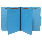 Top Tab Colored Classification Folder - Blue