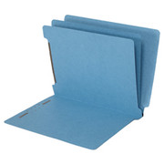 End Tab Colored Classification Folder - Blue