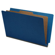 End Tab Pressboard Classification Folder - Cobalt Blue - 1