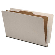 End Tab Pressboard Classification Folder - Gray - 1
