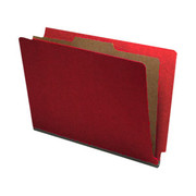 End Tab Pressboard Classification Folder - Ruby Red - 2