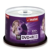 Imation DVD Recordable Media - DVD+R - 16x - 4.70 GB - 50 Pack Spindle