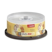 Imation DVD Rewritable Media - DVD-RW - 4x - 4.70 GB - 25 Pack Spindle