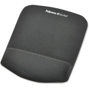 Fellowes PlushTouch Mouse Pad/Wrist Rest with FoamFusion Technology - Graphite