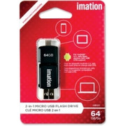 Imation 2-in-1 Micro USB Flash Drive - 2