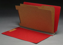 End Tab Pressboard Classification Folder - Ruby Red - 3