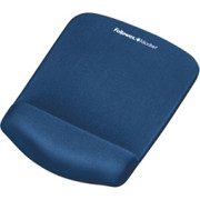 Fellowes PlushTouch Mouse Pad/Wrist Rest with FoamFusion Technology - Blue