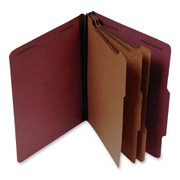 Top Tab Pressboard Classification Folder - Red - 5