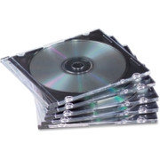 Fellowes NEATO Thin CD Jewel Case-Clear, 25 pack